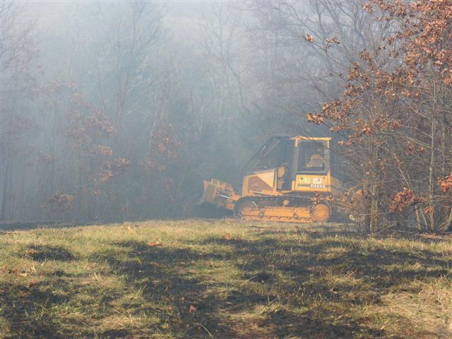 Forestry Commission bulldozer at work