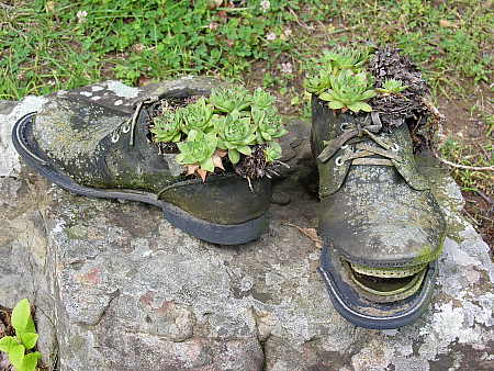 The final resting place for a good pair of boots