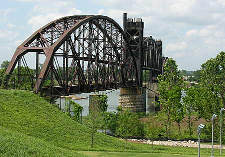 Railroad trestle across Arkansas River