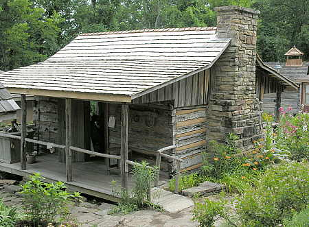 Ozark style log cabin at Ozark Folk Center