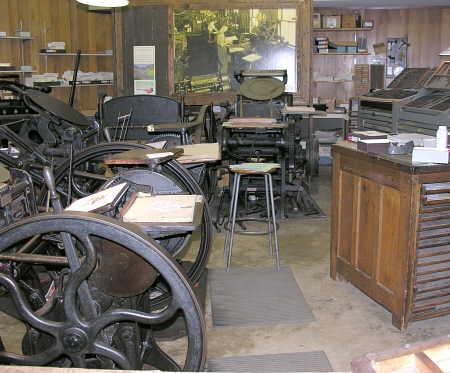 Print shop at Ozark Folk Center