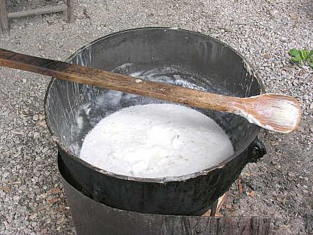 Soap production at Ozark Folk Center