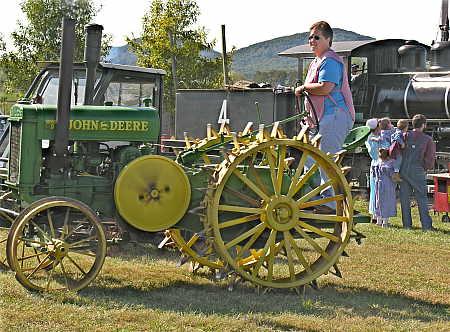 John Deere steel-wheeled tractor