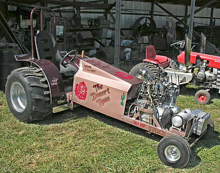 Highly modified lawn tractor