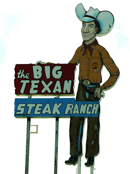 Big Texan Steak Ranch signage