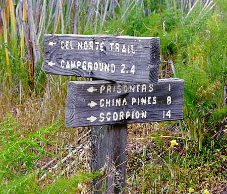 Trail signage on  Santa Cruz Island