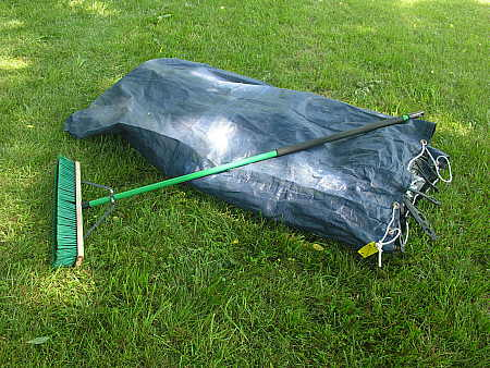 Storage bag for people pond safety cover