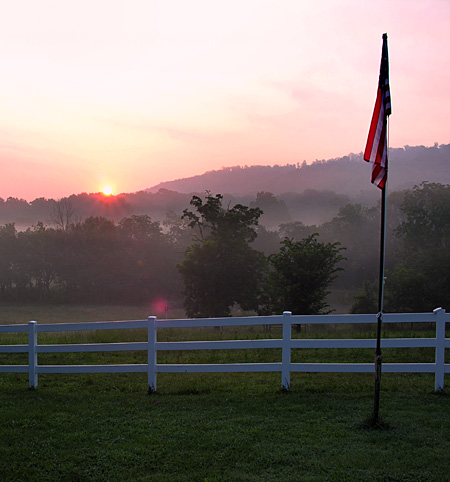 Morning sunrise at the ranch