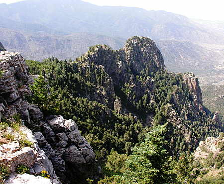 Rugged terrain near Sandia Peak