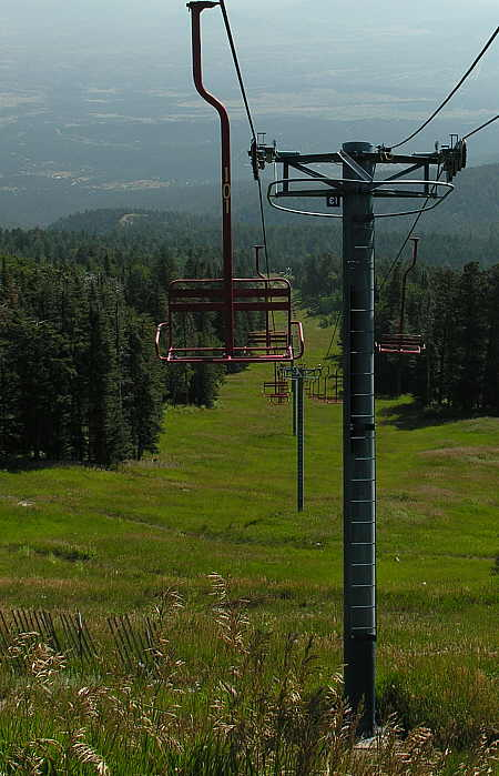 One of several chair lifts