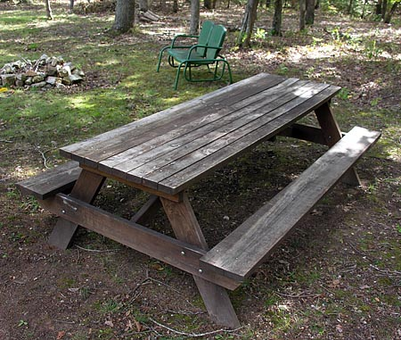 Full-sized picnic table