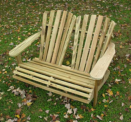 adirondack chair loveseat plans