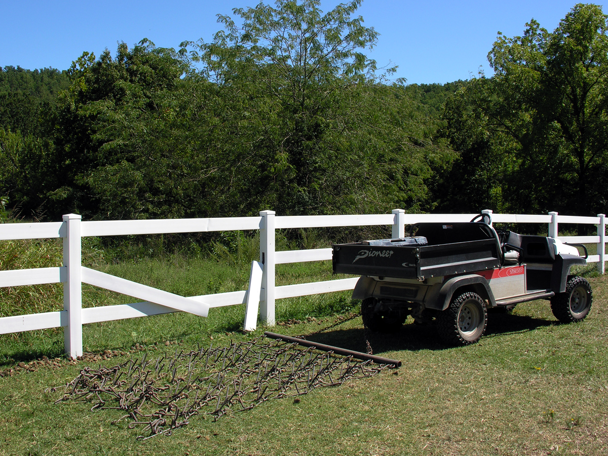 Fence Repair-Wood fence post broke at ground level due to wind